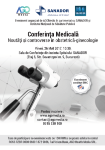 26 mai - Actualitati si controverse in obstetrica-ginecologie